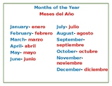 Months of the year in Dual language