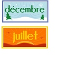 Months of the year in French. Les mois de l'annee