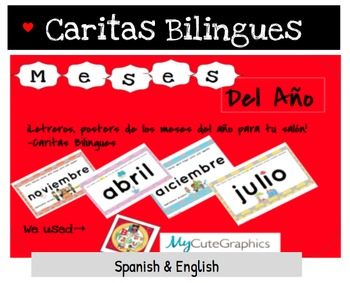 Months of the year in Spanish & English