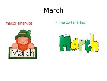 Months of the year in three languages