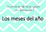 Months of the year label in Spanish