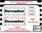 Months of the year labels and Days of the Week labels - Bu