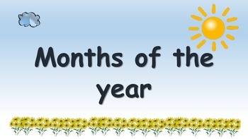 Months of the year posters sun and cloud theme