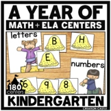 Kindergarten Math and Language Arts Centers for the Year