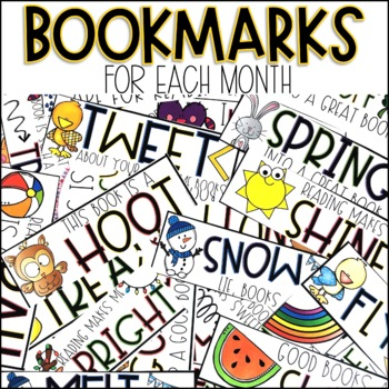 Monthly Reading Bookmarks