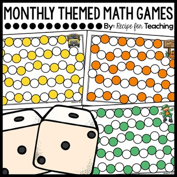Monthly Themed Math Games