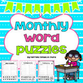 Monthly Word Puzzles: A Fun Way for Students to Make New Words