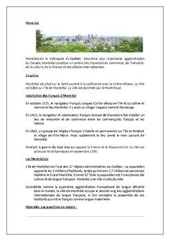 Montreal / Canada / Ma ville / Ma region / Mon quartier / My town / My area