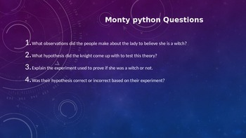 Monty Python and The Holy Grail Scientific Method