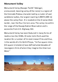 Monument Valley Handout