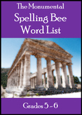 Monumental Spelling Bee Word List for Grades 5-6