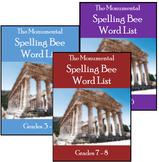 Monumental Spelling Bee Word Lists Bundle