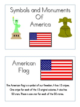Monuments and Symbols of America Mini-Book