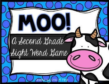 Moo! A Second Grade Sight Word Game