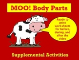 Moo Body Parts Video worksheets