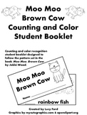 Moo Moo, Brown Cow Counting and Color Recognition Student Booklet