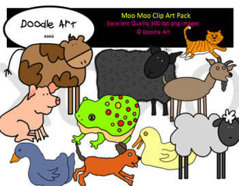 Moo Moo Clipart Pack