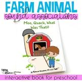 Farm Animal Sounds Interactive Preschool Book