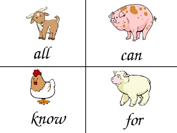 Moo! Sight Word Game