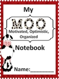 """Moo""-velous Notebook Cover"