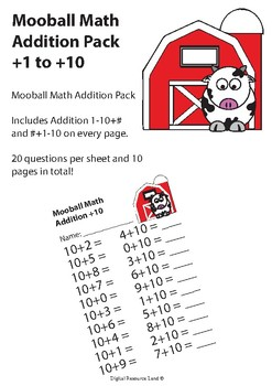 Mooball Math Addition + 1-10 Pack