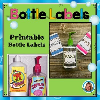 Bottle Labels Bathroom Pass - Classroom Management Bottle Labels