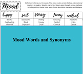 Mood Descriptors and Synonyms