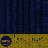 Mood Indigo Digital Papers