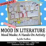Mood Masks, Hands-on Project for Mood in Literature, Interactive Notebook Insert