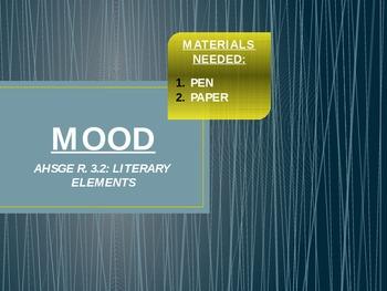 Mood Mini Lesson PPT