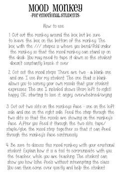 Mood Monkey [For Emotional Students]