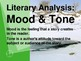 Mood & Tone Literary Analysis Lesson