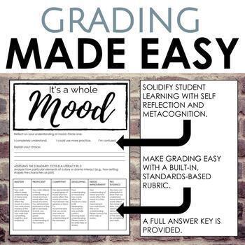 Mood Worksheet for Secondary ELA