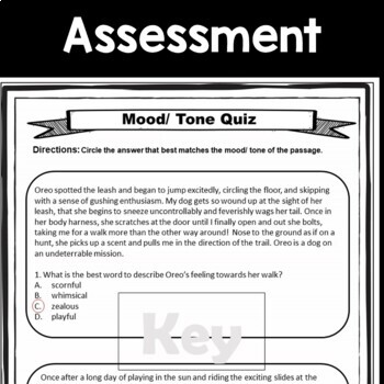 Tone and Mood 5 Day Activity Bundle