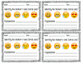 Mood and Tone Analysis using Emojis Exit Slip Formative Assessment