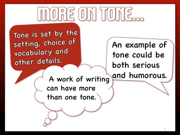 Mood and Tone Lesson with Student Note Packet