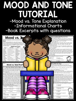 Mood and Tone Practice, Set 2, Middle School ELA Test Prep, Selections