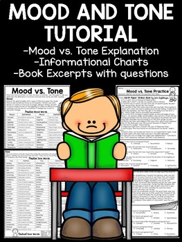 Mood and Tone Practice, Set 1, Middle School ELA Test Prep, Selections