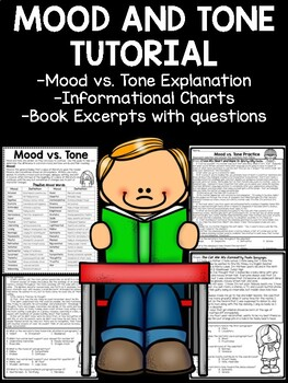 Mood and Tone Practice, Set 4, Middle School ELA Test Prep, Selections
