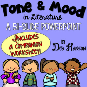 mood and tone powerpoint by deb hanson teachers pay teachers. Black Bedroom Furniture Sets. Home Design Ideas