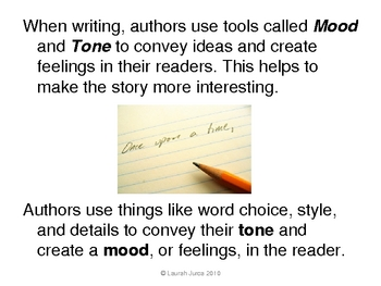 Mood and Tone in Literature Presentation (with video)