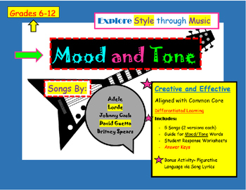 Mood and Tone in Music Activity- Teaching Style with Adele