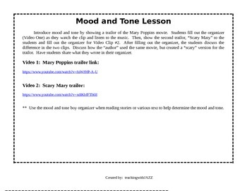 Mood and Tone lesson