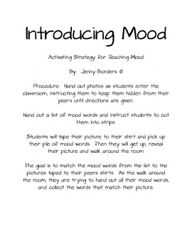 Mood in Literature - An Activating Strategy