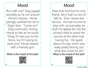 Mood Task Cards with QR Codes
