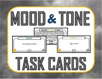 Mood versus Tone Task Cards