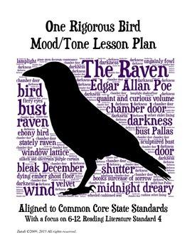 Raven: One Rigorous Bird Mood/Tone Lesson Plan UPDATED Common Core Aligned