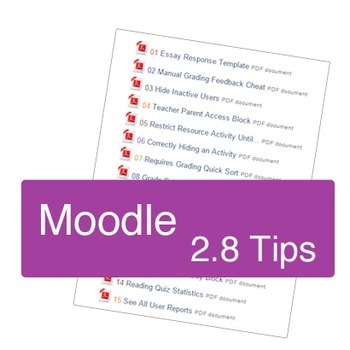 Moodle 2.8 Tips for Teachers & Course Designers