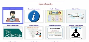 Moodle Parts of Speech Course - Verbs, Nouns, Adjectives, Adverbs & Prepositions