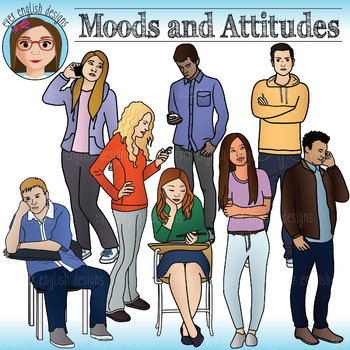 Moods and Attitudes - Teen Clip Art